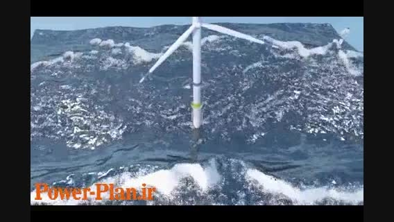 شبیه سازی نصب توربین بادی روی آب