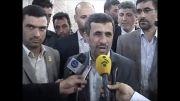 احمدی نژاد در حرم حضرت علی (ع) و امام حسین (ع)