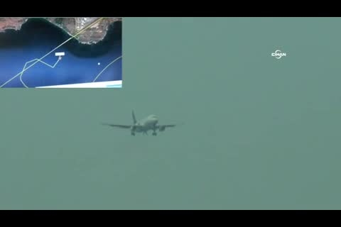 آتش گرفتن موتور هواپیما روی باند