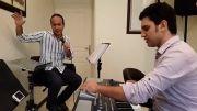 پشت صحنه ی تمرین آهنگ تردید سیاوش قمیشی توسط حسن ریوندی