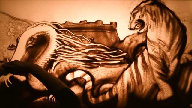 هنرنمایی شگفت انگیز با شن و ماسه..! HD