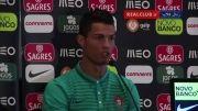 مصاحبه کریستیانو رونالدو پس از بازی با دانمارک