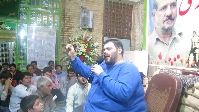 حسین رجبیه یادبود شهید مدافع حرم سعید قارلقی