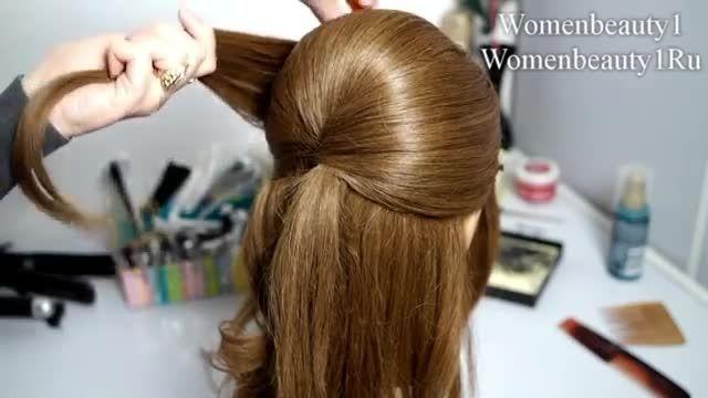 آموزش شنیون شیک و خاص  برای موهای متوسط