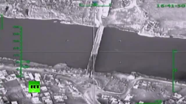 انهدام پل روی رود فرات توسط جنگنده های روسی