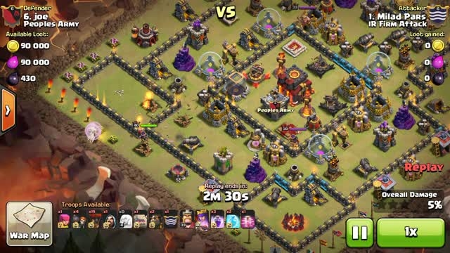 COC - 3 Stars Town hall 10 with 2 sweeper