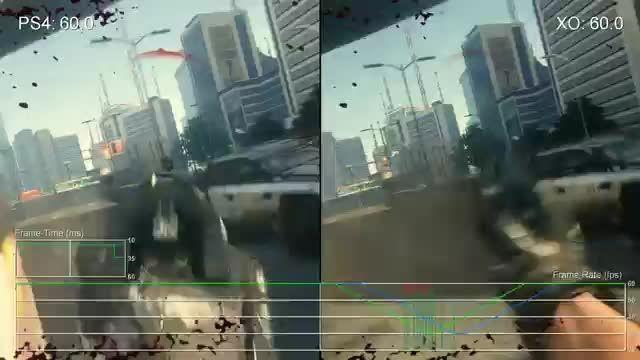 مقایسه گرافیک COD AD در PS4 و X1