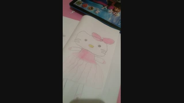 نقاشی کیتی من برای مسابقه ی پرنسس الکسا مدیر گروه پرنسس