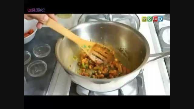 گوجه پلو آموزش پختن طبخ آشپزی آسان+توضیح+فیلم کلیپ