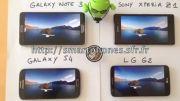 مقایسه ی صفحه نمایش  Xperia Z1-G2-Galaxy S4-Galaxy Note 3