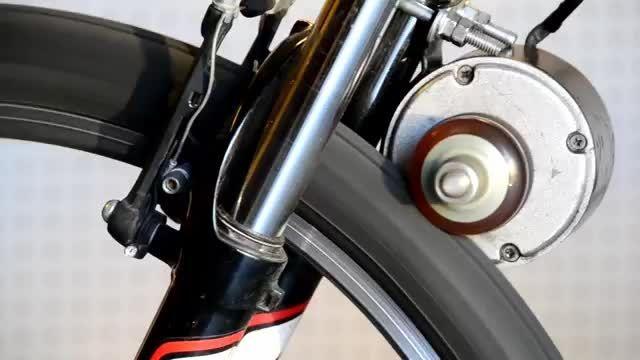 آزمایش یک مدل دوچرخه موتور دار ساده!