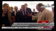 مصاحبه جنجالی با وزیر کشور مصر با لباس خواب !!