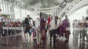 تبلیغ هواپیمایی قطر با حضور بازیکنان بارسا