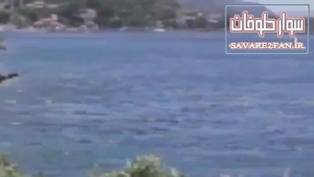 پری دریایی در ساحل کالیفرنیا!