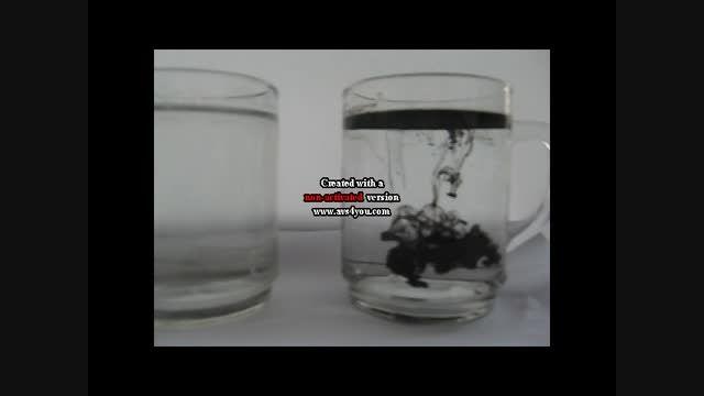 پدیده انتشار در آب و آب نمک