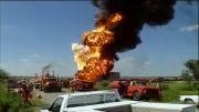 لحظه انفجار مهیب در امریکا