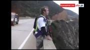 پرش از ارتفاع حتی پلیس هم نتوانست جلوی این پرش رابگیرد