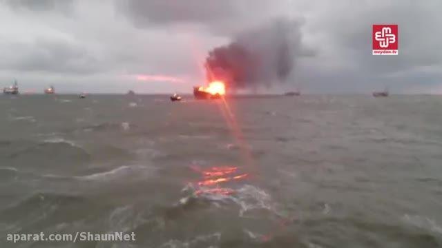 سکوی نفتی آذربایجان در دریای خزر آتش گرفت 30 نفر مفقودی