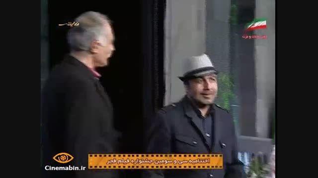 عکس سلفی رضا عطاران در اختتامیه فیلم فجر 93