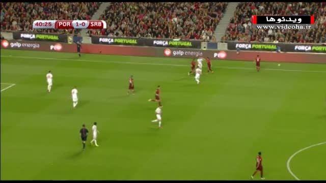 درگیری کوئنترائو و لیاییچ در بازی پرتغال-صربستان