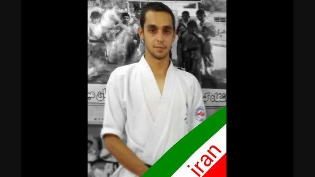 ضربه ی زیبای محمدرضا اصغری با شمشیر پارسی با صدای زیبای