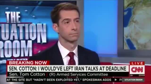 مصاحبه تام کاتن سناتور مجنون آمریکایی با شبکه CNN
