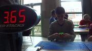 رکورد حل مکعب روبیک به شکل دیوانه