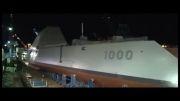 به آب اندازی ناو جنگی فوق مدرن USS Zumwalt