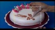 Roozmenu.com - آموزش طراحی خرگوش روی کیک خامه ای