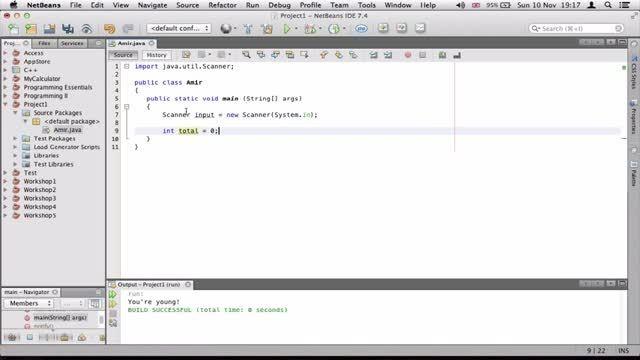 ۱۷- برنامه ساده برای گرفتن معدل در جاوا Java