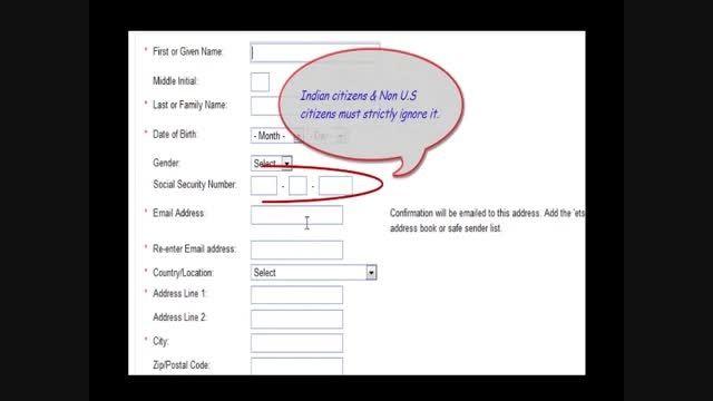 آموزش ثبت نام در آزمون GRE