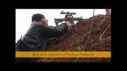 مهر تک تیر انداز محافضان حرم حضرت زینب (ع) بر پیشانی تروریست سوری