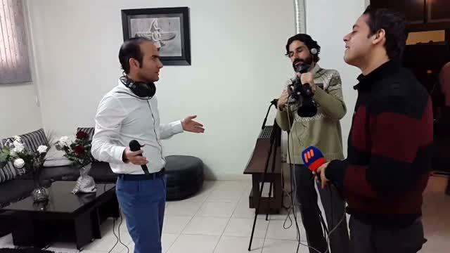 پشت صحنه ی جالب از برنامه ی گلخانه با حضور حسن ریوندی