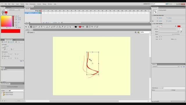 آموزش مبتدی انیمیشن سازی با adobe flash پارت یک سفارشی