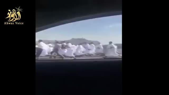 فیلم لحظه ربودن حجاج توسط نیروهای آل سعود در منا