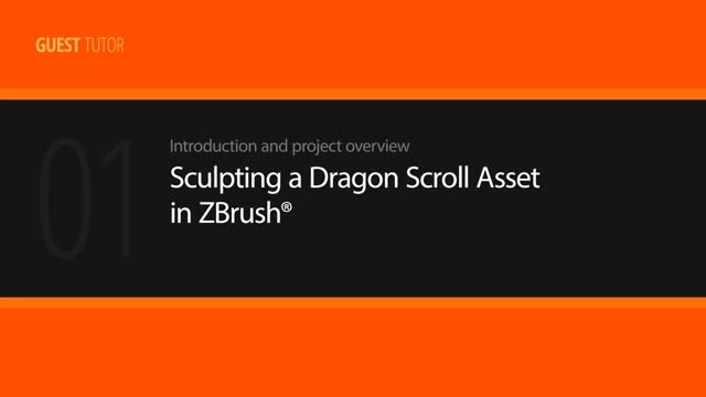 Sculpting a Dragon Scroll Asset in ZBrush