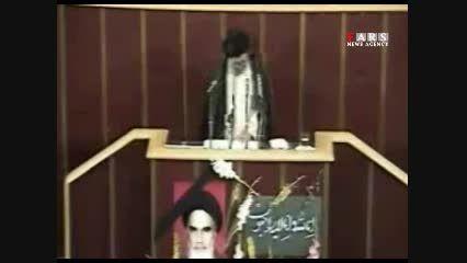 قرائت وصیتنامه امام راحل توسط امام خامنه ای