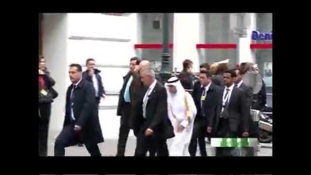 تصویر جایگاه وزیر خارجه عربستان در میز مذاکرات