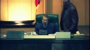 درگیری لفظی احمدی نژاد و لاریجانی و ترک مجلس توسط احمدی نژاد