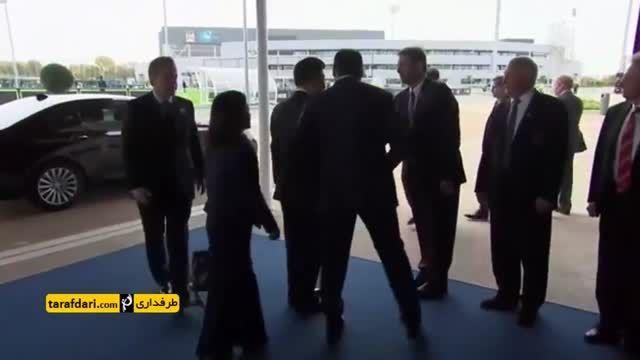 حضور رییس جمهور چین در تمرینات منچسترسیتی