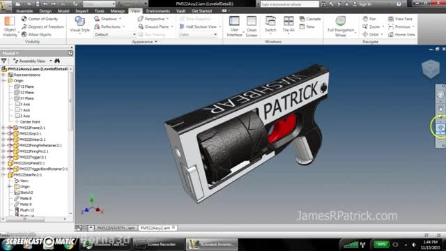 ساخت تفنگ با قابلیت شلیک چند تیر به کمک پرینتر سه بعدی