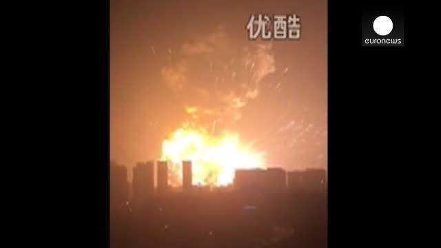 انفجار مهیب در شهر بندری تیانجین چین