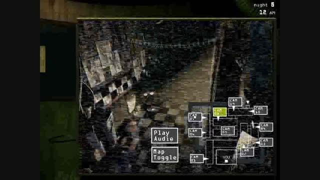 یه عکس العمل از بازی fnaf 3