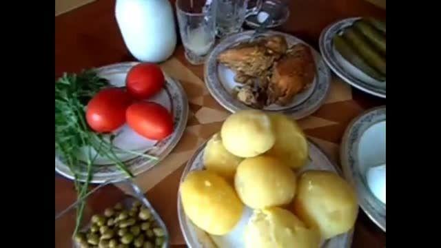سالاد الویه - آشپزی از اینجا تا آنجا با عذرا