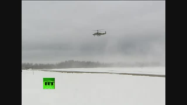 پرواز هلیکوپتر رزمی قدرتمند روسیه کاموف 52 (ka-52)