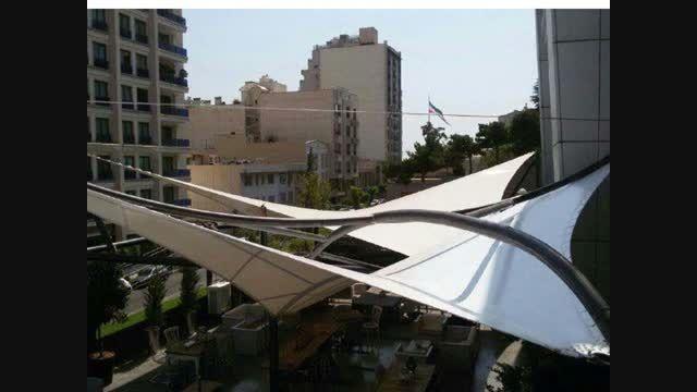 کاوشکام - سقف چادری رستوران و کافی شاپ - سایبان چادری