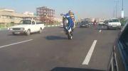 تک چرخ زدن با موتور - تهران