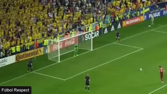 تمام پنالتی های بازی : سوئد 0 (4) - (3) 0 پرتغال