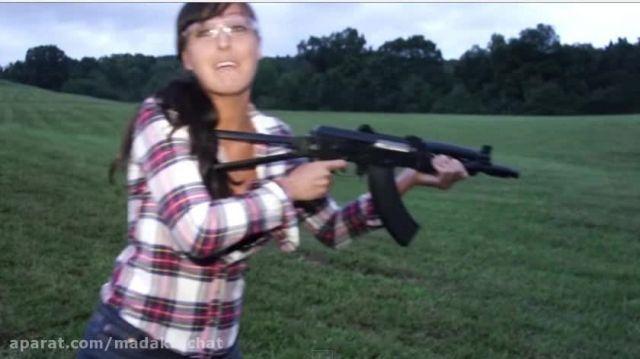 تست اسلحه ak-47