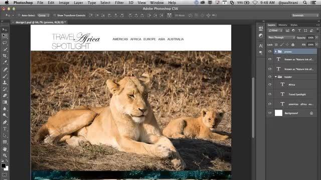 طراحی سایت با فتوشاپ در 5 دقیقه